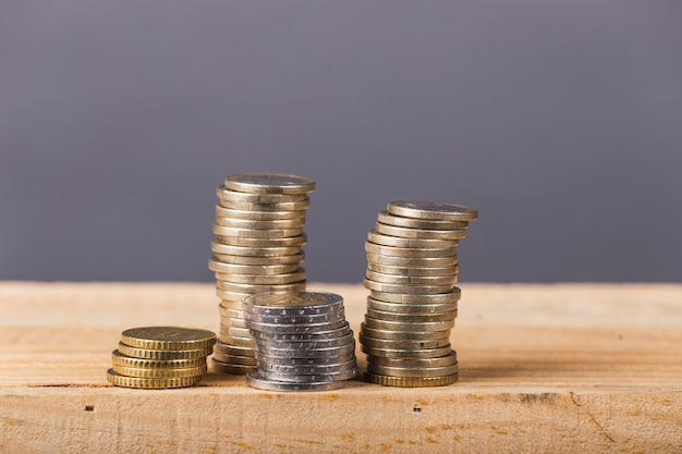 Euro munten stapel Premium Foto