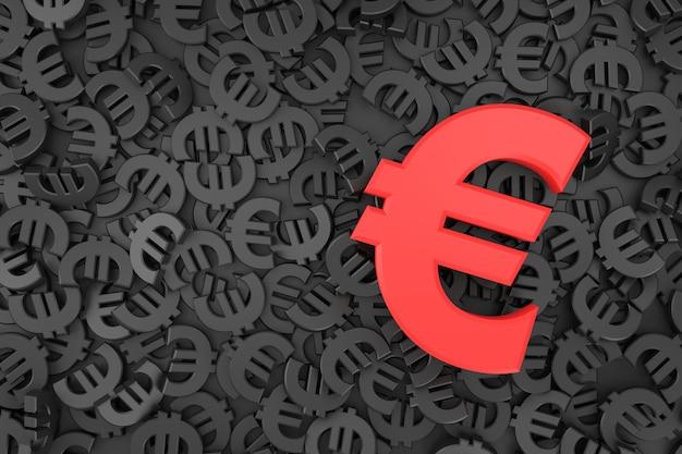 Euro teken banner in 3d-rendering Premium Foto
