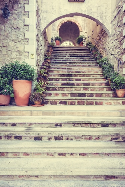 Europa oud toscaans huis trappen Gratis Foto
