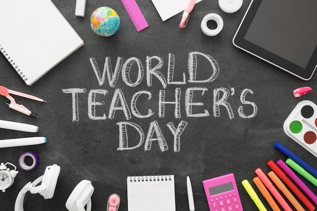 Evenement voor de dag van de wereldleraar Gratis Foto