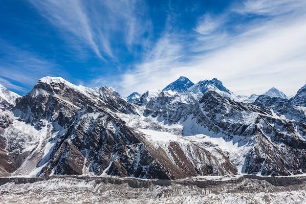 Everest landschap, himalaya Premium Foto