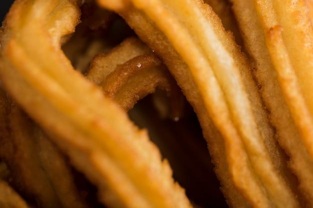Extreme close-up gefrituurde churros Gratis Foto