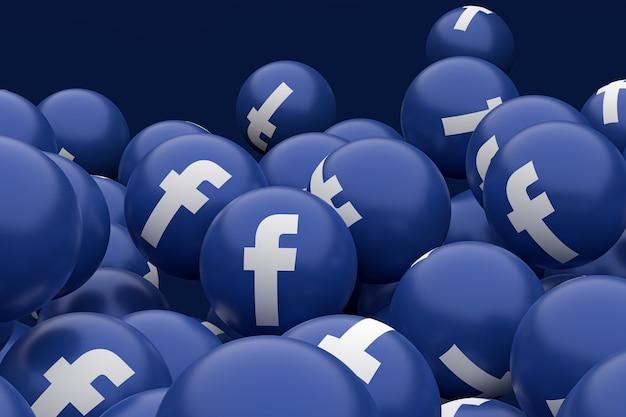 Facebook-pictogram emoji 3d render Premium Foto