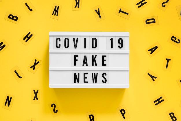 Fake coronavirus pandemische feiten Gratis Foto