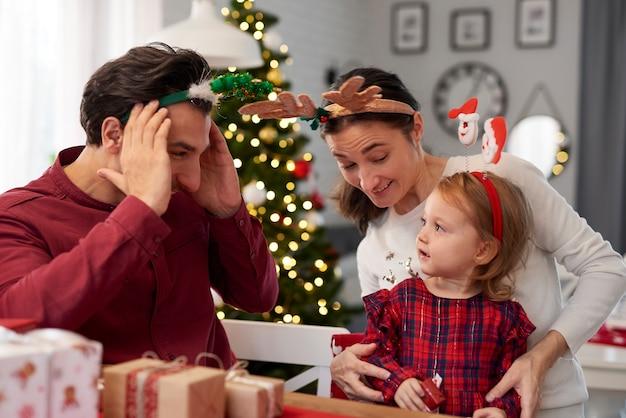 Familie plezier met kerstmis Gratis Foto