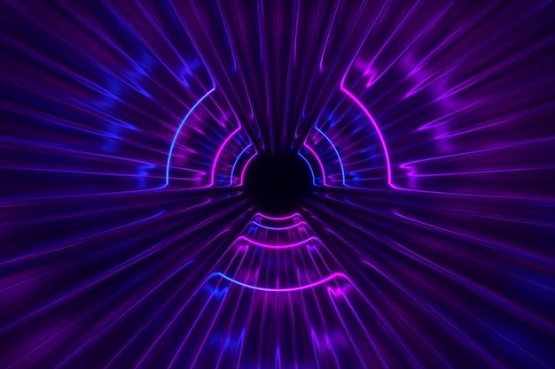 Fantastische neonlichtenachtergrond Premium Foto