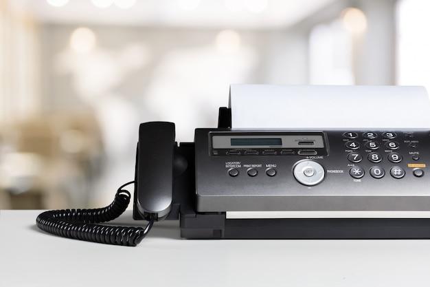 Faxapparaat op kantoor Premium Foto