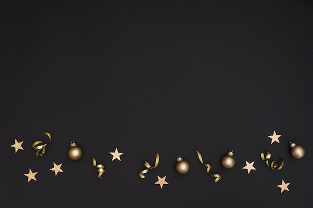 Feestelijke nieuwjaars feestdecoratie met kopie ruimte Gratis Foto