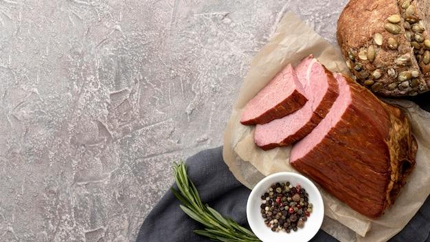 Filet vlees en kopie-ruimte Gratis Foto