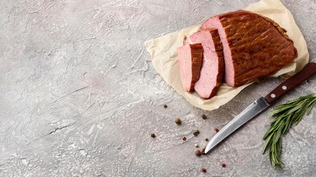 Filet vlees met kopie-ruimte Gratis Foto
