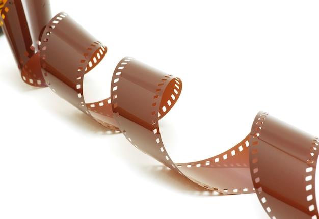 Filmstrip voor een witte achtergrond Premium Foto