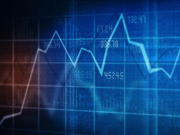 Financiële grafieken en diagrammen Premium Foto