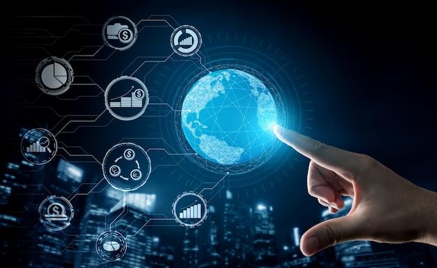 Financiën en geld transactie technologie concept Premium Foto