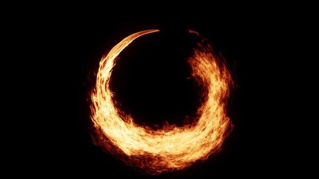 Fire circle achtergrond Premium Foto