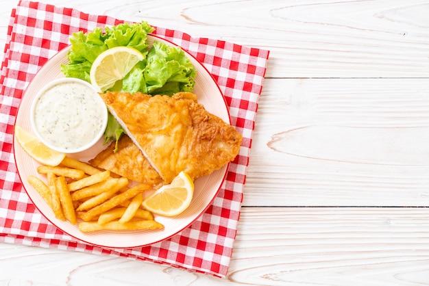 Fish and chips Premium Foto