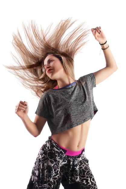 Fitness oefening meisje Premium Foto