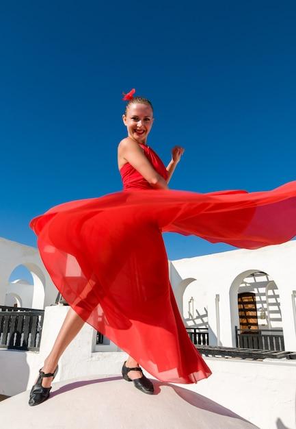 Flamenco danser springen Gratis Foto