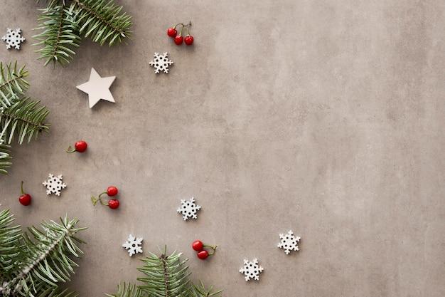Flay lag van een prachtig kerstavondconcept Gratis Foto