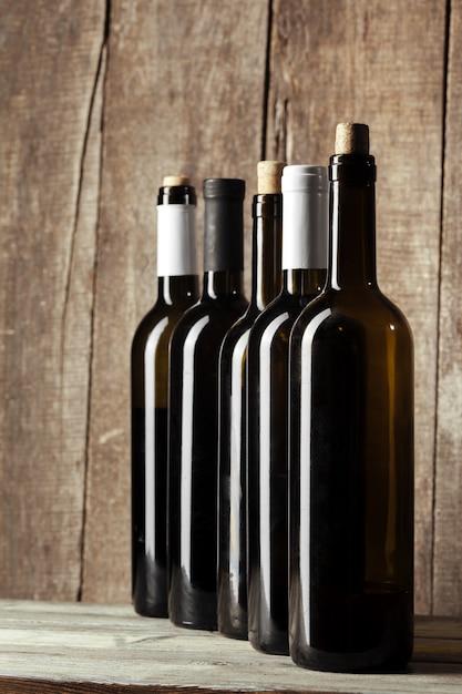 Fles wijn Premium Foto