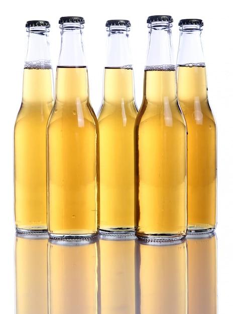 Flessen koud en vers bier. Gratis Foto