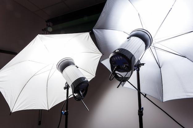 Flits flitser van de fotografiestudio Premium Foto