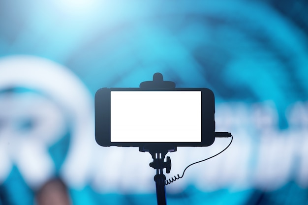 Fotograferen met smartphone in concert Premium Foto