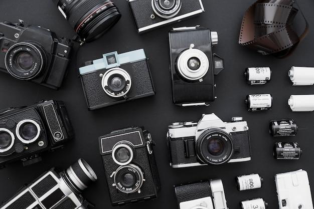 Fotografische film dichtbij reeks camera's Gratis Foto