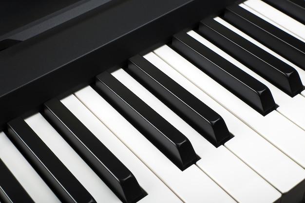 Fragment van een aantal elektronisch pianotoetsenbord Premium Foto