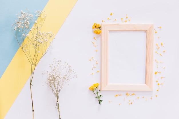 Frame en bloemen Gratis Foto