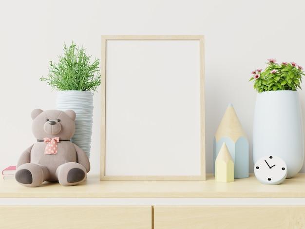 Frame in het interieur van de kinderkamer. Premium Foto