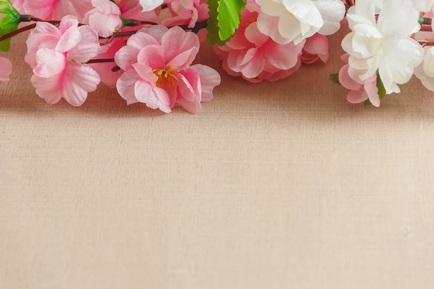Frame van de lente bloeit achtergrond Premium Foto