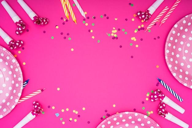 Frame van feestelijke feestartikelen Gratis Foto