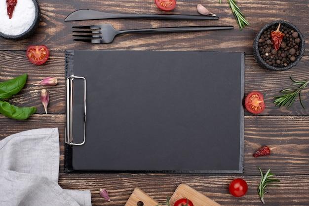 Frame van gezonde ingrediënten voor het koken Gratis Foto
