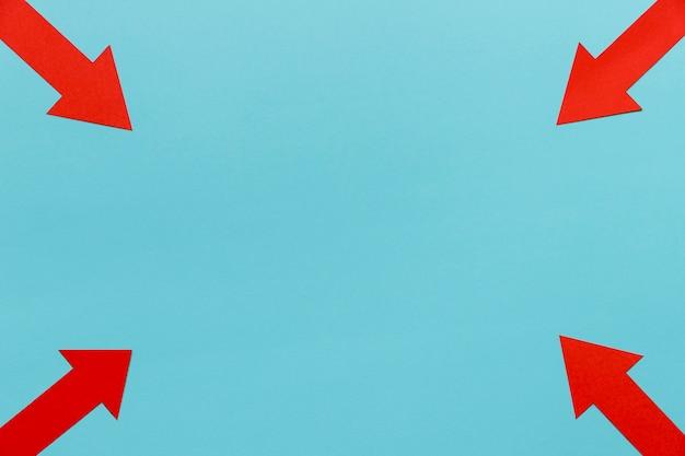 Frame van pijlen met kopie-ruimte Gratis Foto