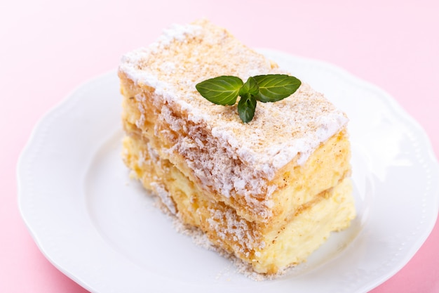 Franse mille feuille cake Premium Foto