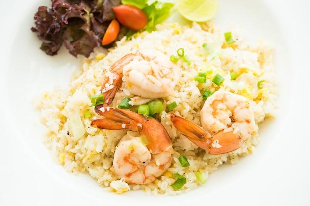 Frietjes rijst met garnalen Gratis Foto
