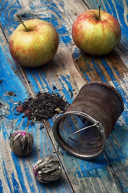Fruitvla soorten thee Premium Foto