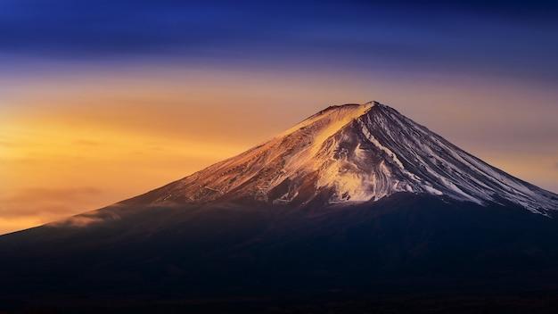 Fuji-berg bij zonsopgang. Gratis Foto