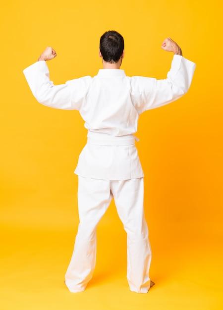 Full-length shot van mandaat karate Premium Foto