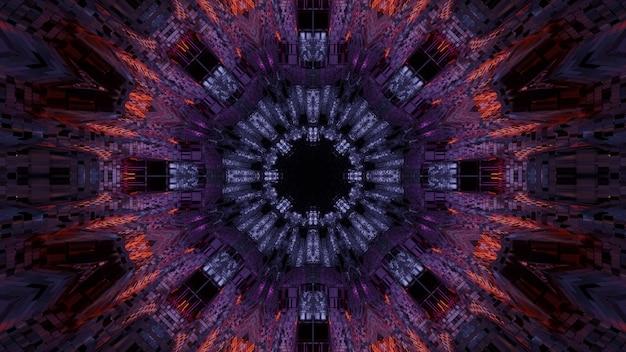 Futuristische achtergrond met abstracte paarse en blauwe laserlichten - ideaal voor een digitale achtergrond Gratis Foto