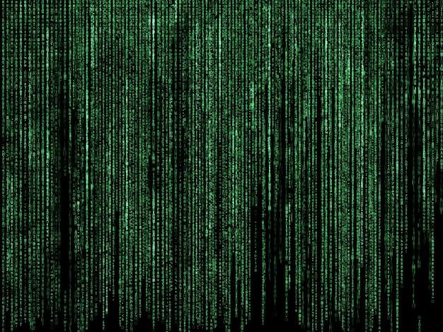 Futuristische achtergrond met matrix stijl codeontwerp Gratis Foto