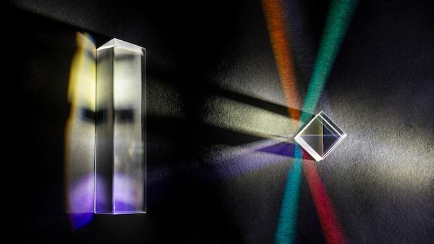 Fysica optica straalbreking kubisch prisma Gratis Foto