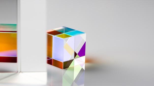 Fysica optica straalbreking kubisch prisma Premium Foto