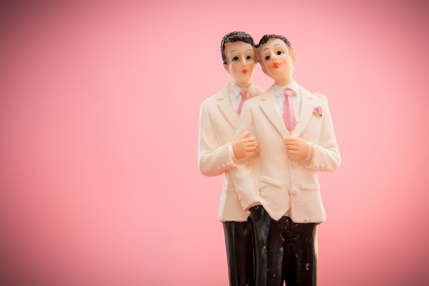 Gay bruidstaart toppers Premium Foto