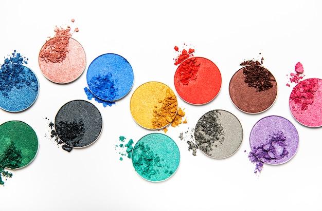 Geassorteerde kleuren oogschaduw Premium Foto