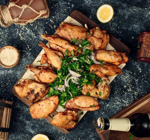 Gebakken kip kebab Gratis Foto