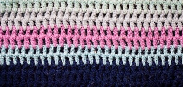 Gebreide gekleurde textuur Gratis Foto