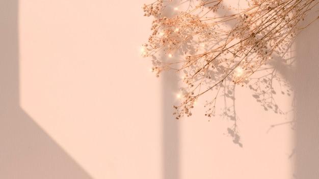 Gedroogde bloem venster schaduw bloemen afbeelding Gratis Foto