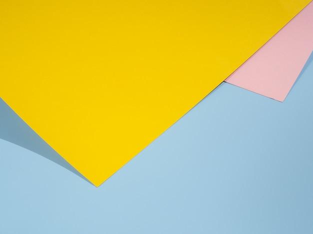 Geel veelhoek papieren ontwerp Gratis Foto