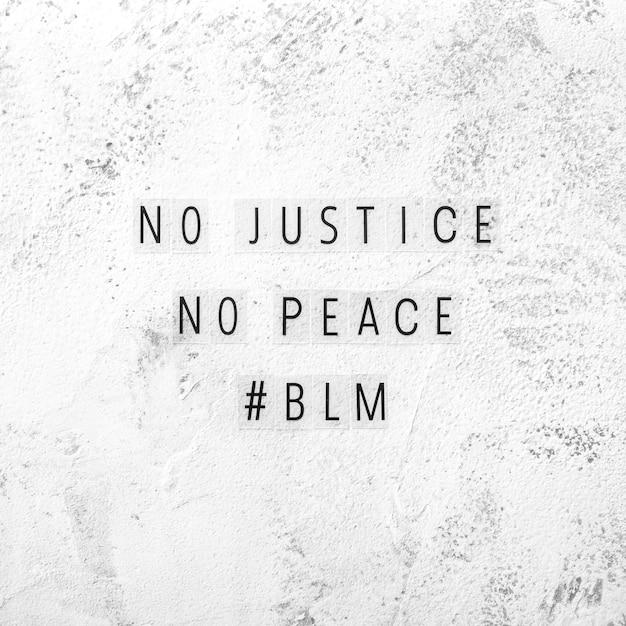 Geen gerechtigheid, geen vrede met zwarte levens is belangrijk Gratis Foto